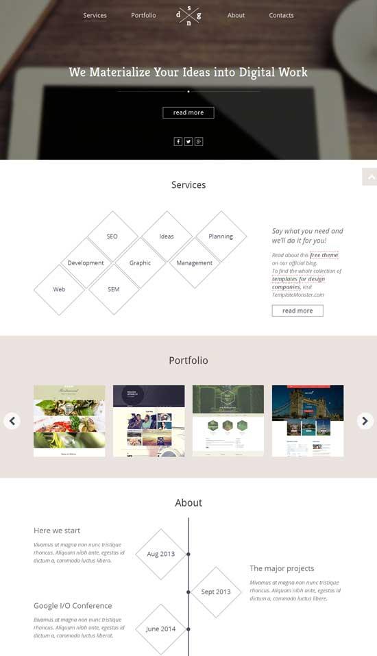 Single Page HTML5 Theme