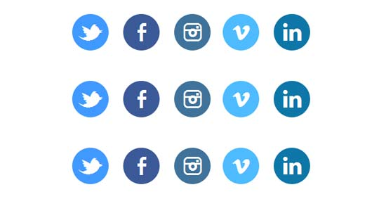 Animated-CSS3-social-buttons