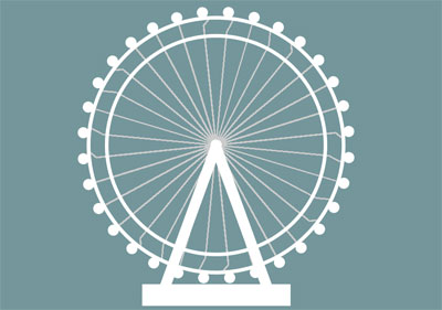 Animated-London-Eye-in-just-2-elements
