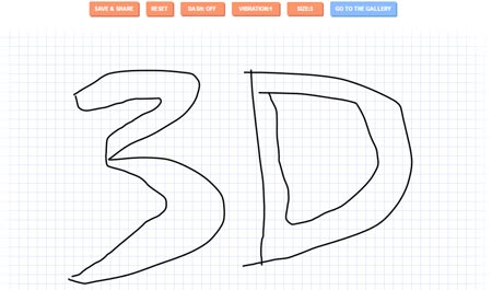 Sketch in 3D With Animating Lines on HTML5 canvas