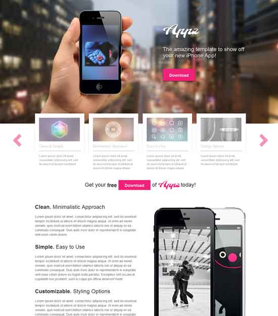 Appz - Free One Single Page WordPress Theme