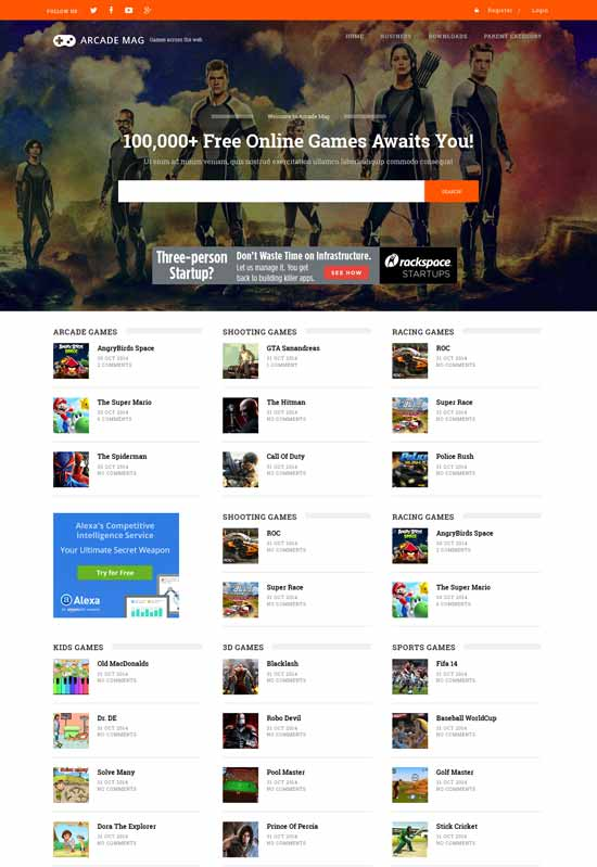 Arcade-Mag-Free-Gaming-Blogger-Template