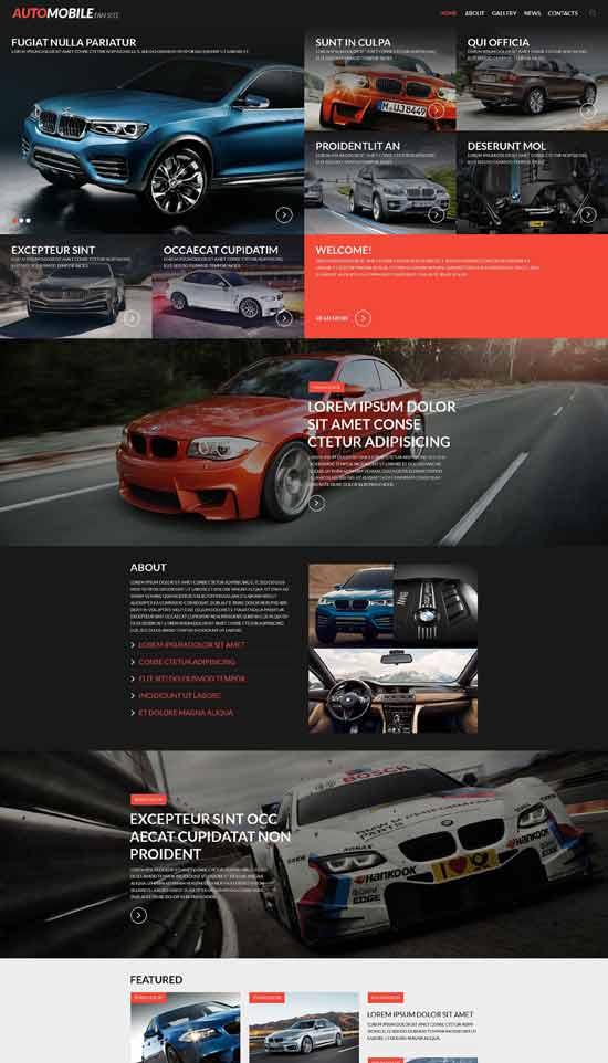 Automobile-Fan-Site-Website-Template