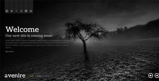 Avenir A Free Coming Soon HTML Template