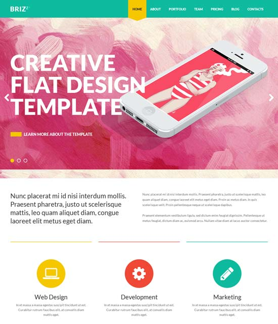 BRIZZZ-Flat-One-Page-HTML-Template