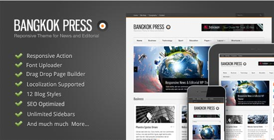 Bangkok Press News and Editorial WordPress Theme