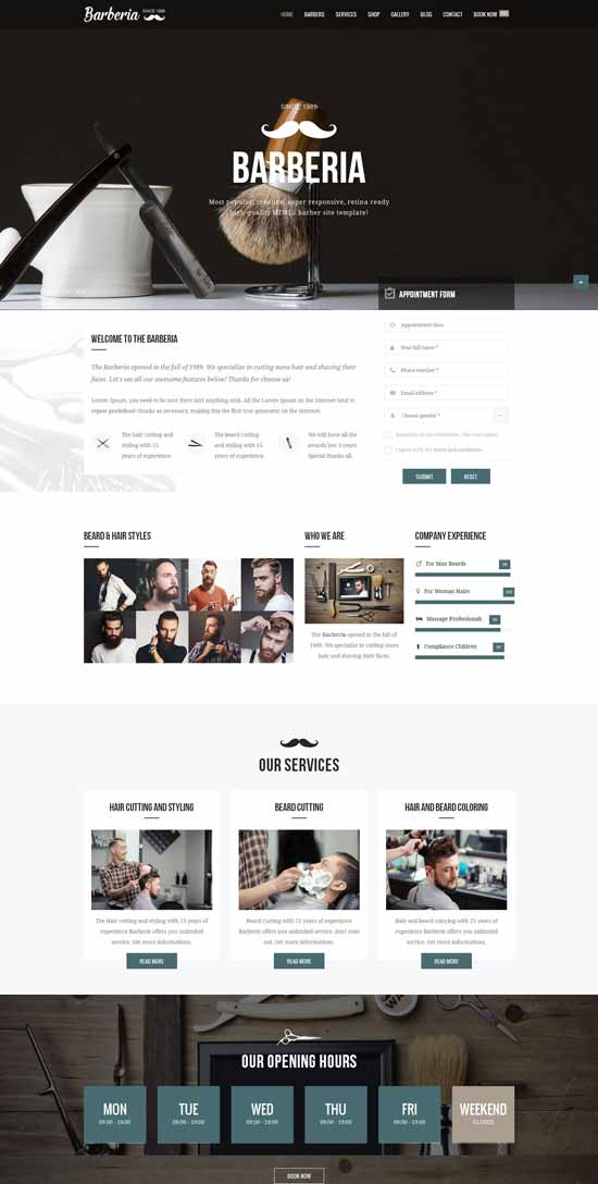 Barber-Hair-Salon-Responsive-Template
