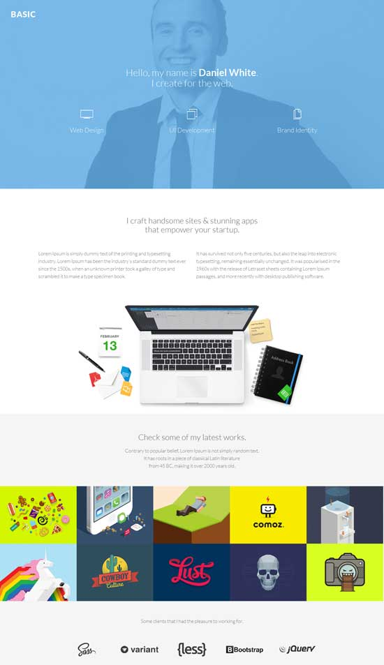 Basic-Personal-Page-Bootstrap-Template