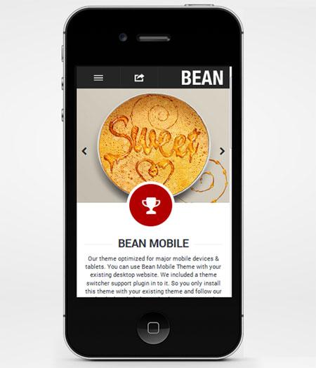 Bean-Premium-Mobile-Theme