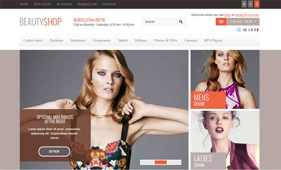 BeautyShop responsive OpenCart theme