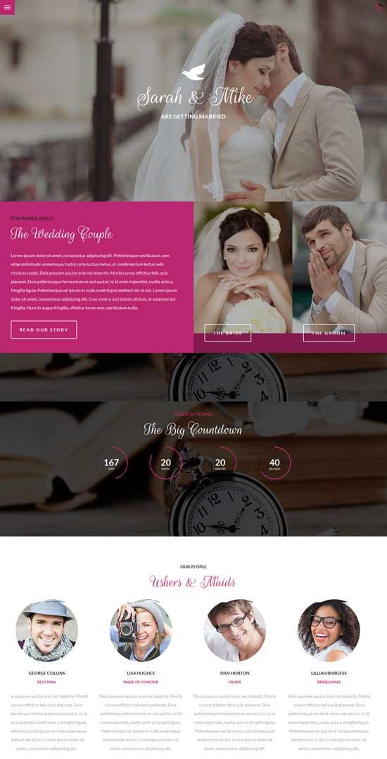 Big-Date-Wedding-Responsive-Site-Template