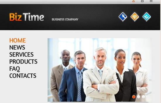 Biz Time Business Company Single Page