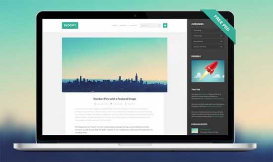 Blogify-PSD-template
