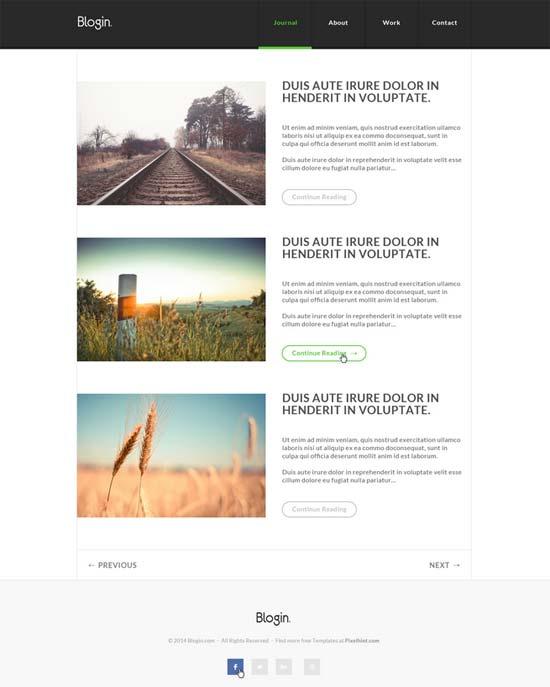 Blogin-Free-PSD-Blog-Template