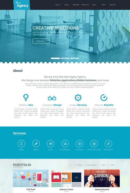 Blue-Agency-Free-Corporate-Business-Responsive-website-template