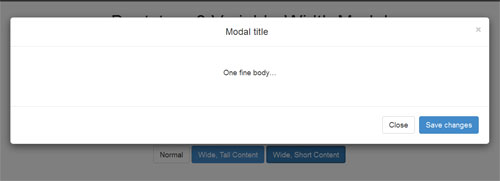 Bootstrap-3-Variable-Width-Modal