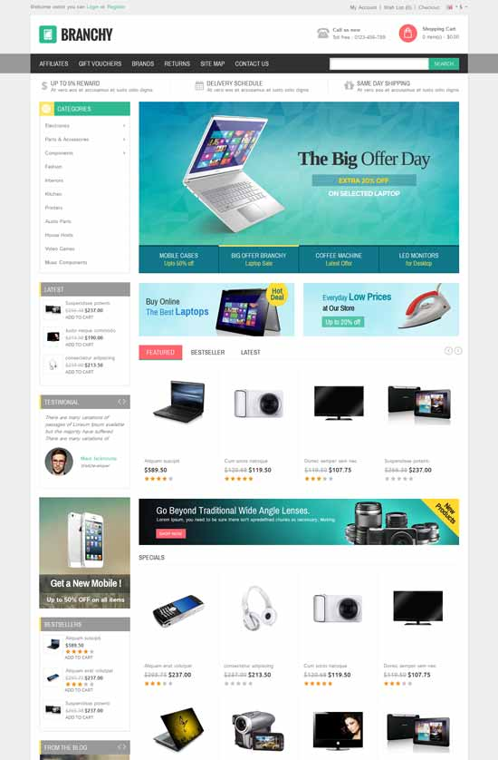 Branchy-Opencart-Responsive-Theme