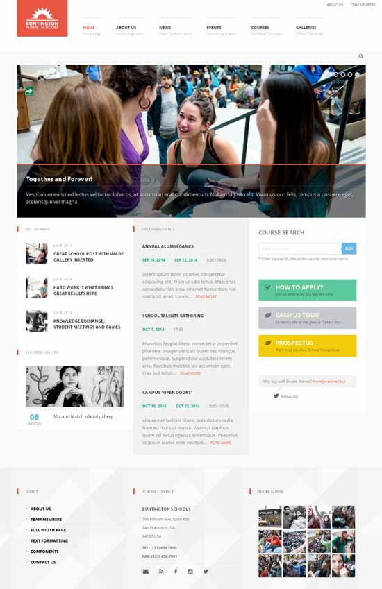 Buntington-Education-WP-Theme
