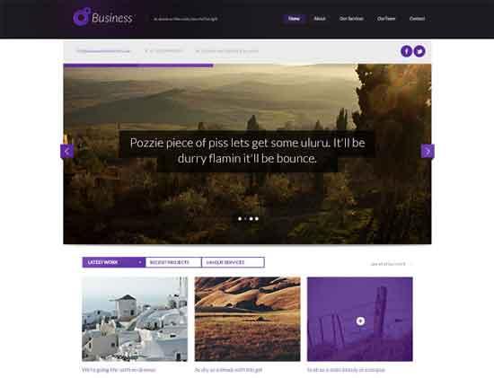 Free Business Themed PSD Website Design