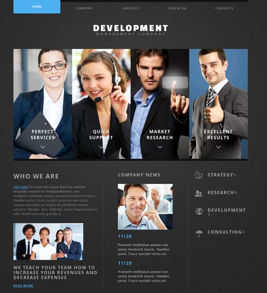 Joomla Theme for Business Web Resource 2.5