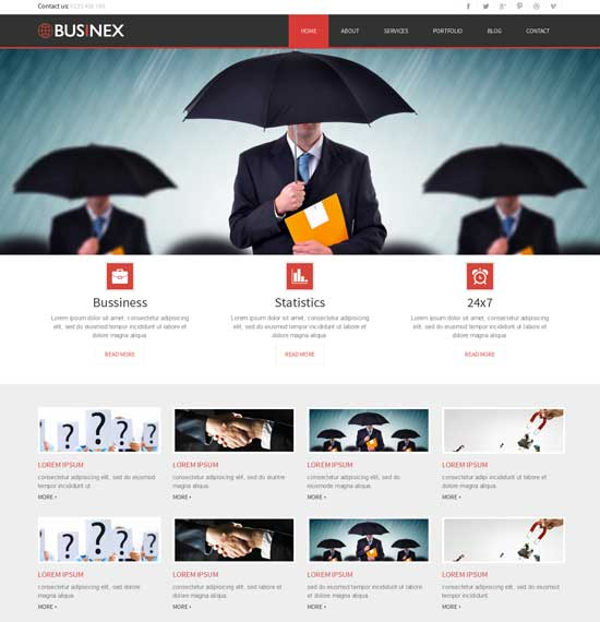 Businex-Free-Corporate-Business-website-Template