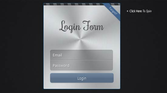 Login Form with CSS 3D Transforms