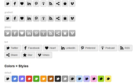 CSS3 Social Buttons