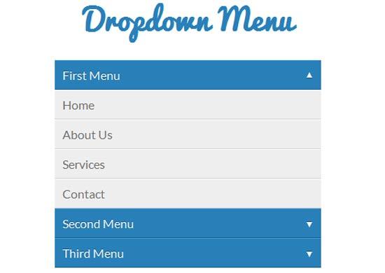CSS3-Javascript-Pure-Dropdown-Menu