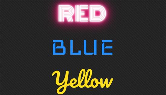 CSS3 Neon Glow