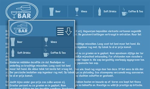 CSS3 Responsive Menu with Icon