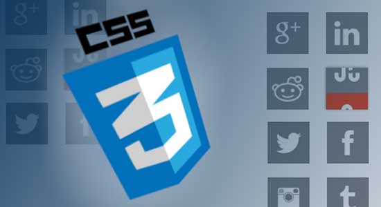 CSS3-Rollover-Social-Media-Icons