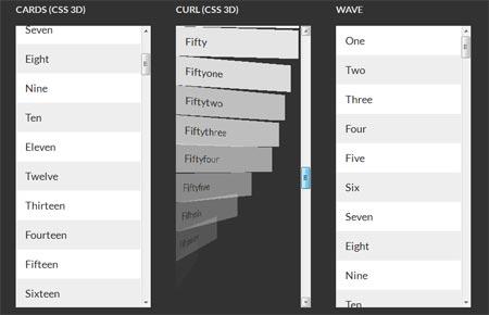 CSS3 scroll effects 3D