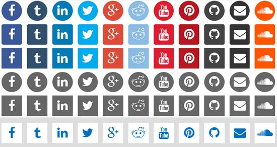 CSS3-Social-Icons