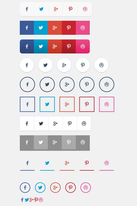 CSS3-Social-Share-Button