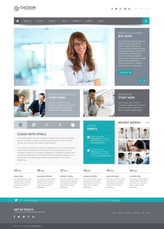 Cacoon-Responsive-Business-website-template
