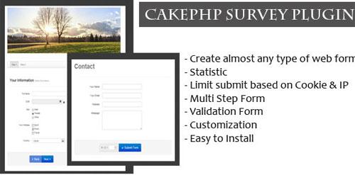 CakePHP-Survey-Form-Generator-Plugin