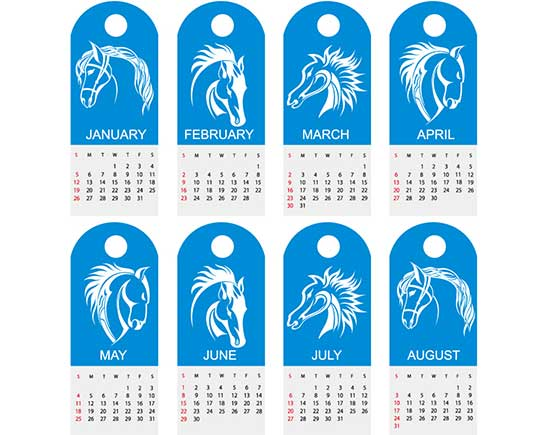 Free Calendar 2014 Red Elk Vector