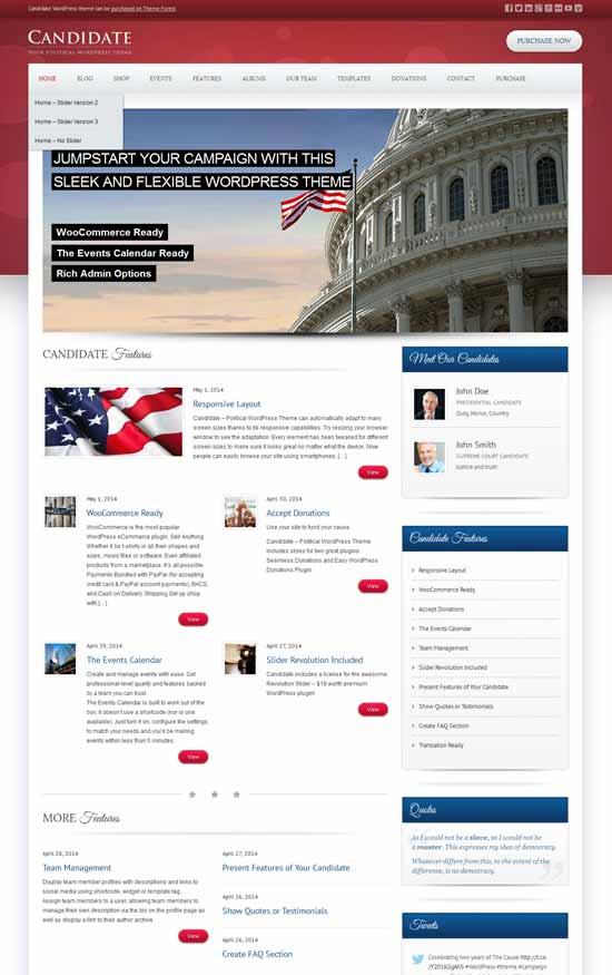 Candidate-Political-WordPress-Theme