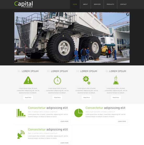 Capital-Free-Industrial-Website-Template