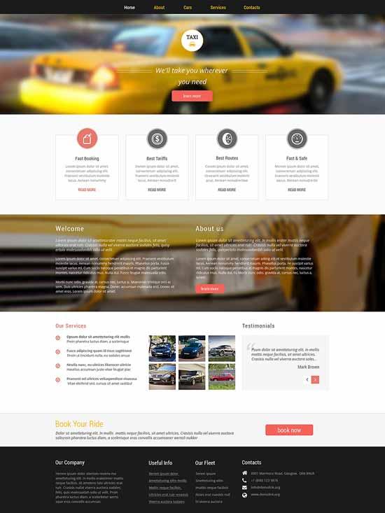 Car-Taxi-Responsive-Website-Template