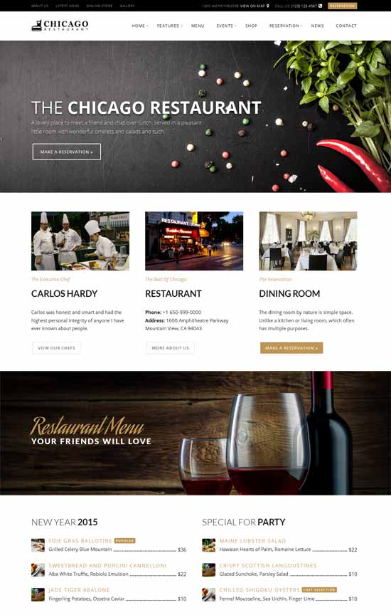 Chicago-Restaurant-Cafe-wordpress-Theme