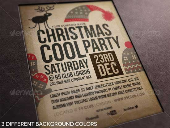 Cool-Party Christmas Flyer Templates