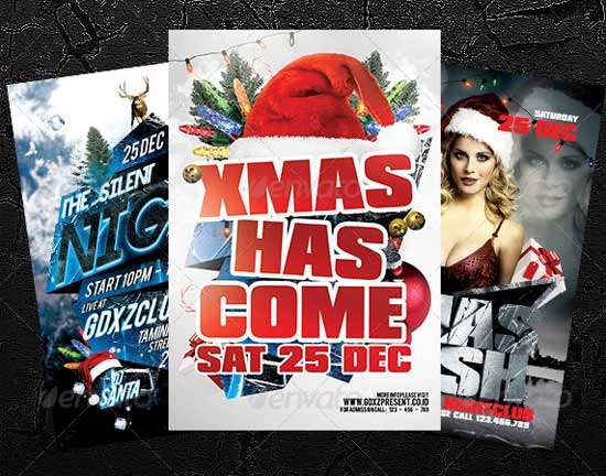 Bundle Christmas Flyer Templates