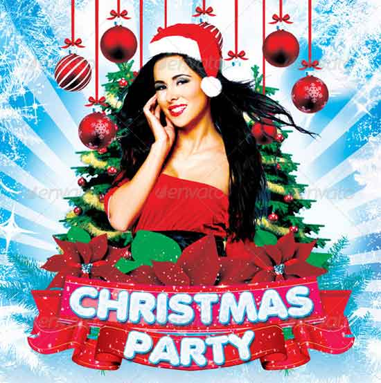 Party Christmas Flyer Templates
