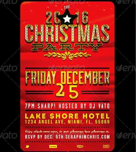 Holiday Christmas Flyer Templates
