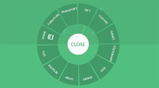 Circular-Navigation-menu