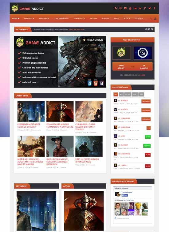 Clan-War-Gaming-Website-Template