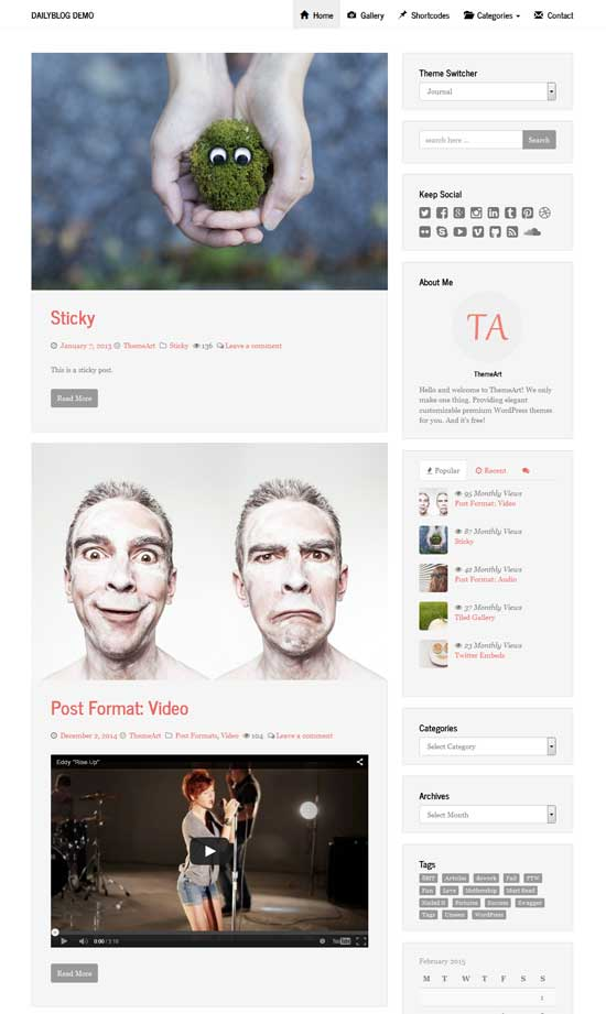ta daily blog wordpress theme