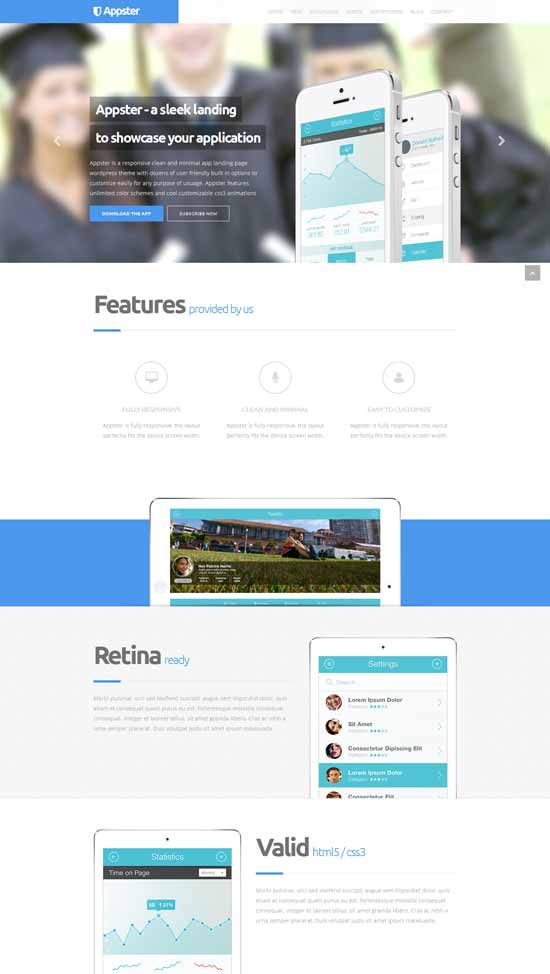 Clean-Minimal-App-Landing-Page-Wordpress