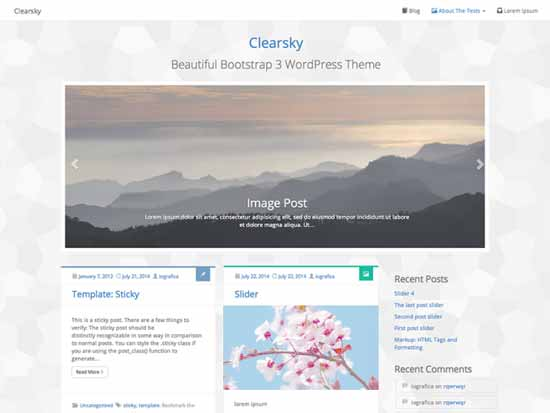 Clearsky-Free-WordPress-with-Bootstrap-3-framework